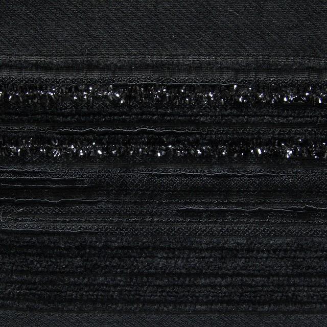 ビスコース&ポリアミド混×無地(ブラック)×ジャガード_イタリア製 イメージ1