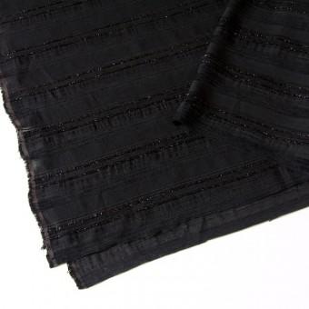 ビスコース&ポリアミド混×無地(ブラック)×ジャガード_イタリア製 サムネイル2