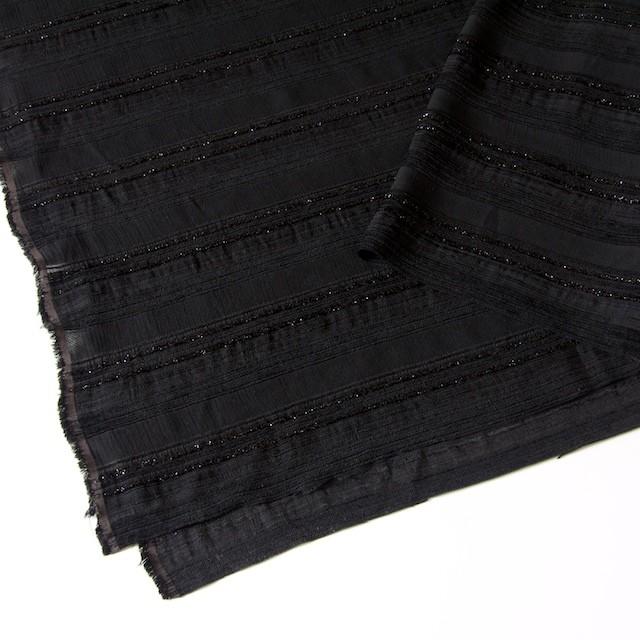 ビスコース&ポリアミド混×無地(ブラック)×ジャガード_イタリア製 イメージ2