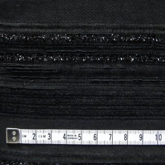 ビスコース&ポリアミド混×無地(ブラック)×ジャガード_イタリア製 サムネイル4