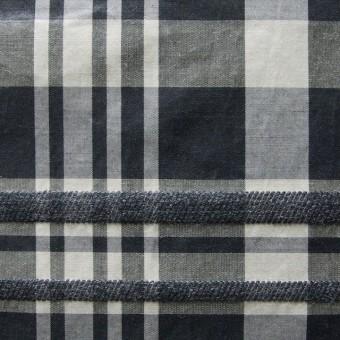 ポリエステル&ウール混×チェック(ブラックミックス)×タフタ_イタリア製 サムネイル1