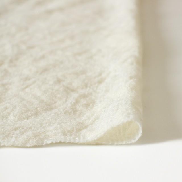 ウール&ナイロン×フラワー(オフホワイト)×ループレース_全2色 イメージ3