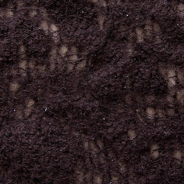 ウール&ナイロン×フラワー(ダークブラウン)×ループレース_全2色 イメージ1