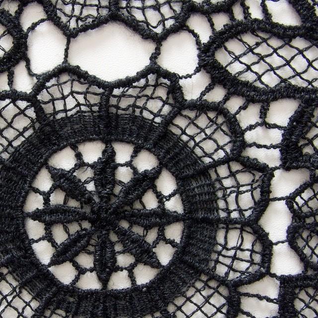 アクリル&ウール×フラワー(ブラック)×ケミカルレース_全2色 イメージ1