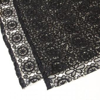 アクリル&ウール×フラワー(ブラック)×ケミカルレース_全2色 サムネイル2