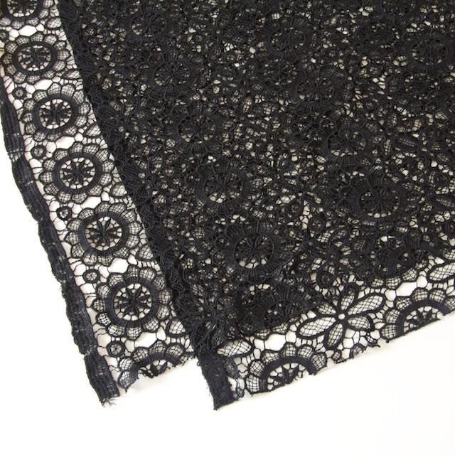 アクリル&ウール×フラワー(ブラック)×ケミカルレース_全2色 イメージ2