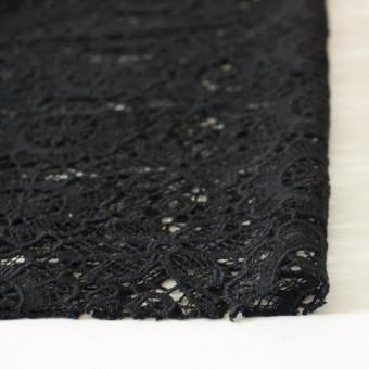 アクリル&ウール×フラワー(ブラック)×ケミカルレース_全2色 サムネイル3