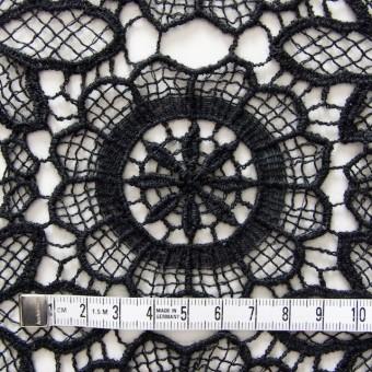 アクリル&ウール×フラワー(ブラック)×ケミカルレース_全2色 サムネイル4