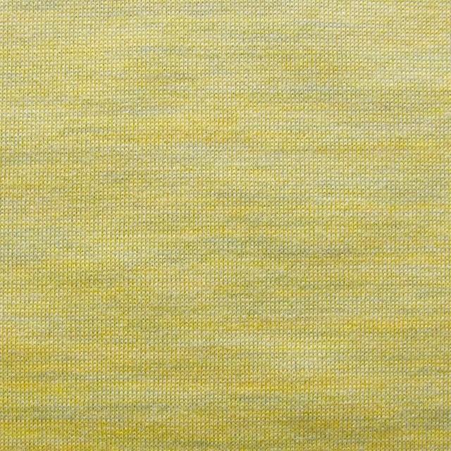 ウール&キュプラ×無地(イエローミックス)×天竺ニット_全2色 イメージ1