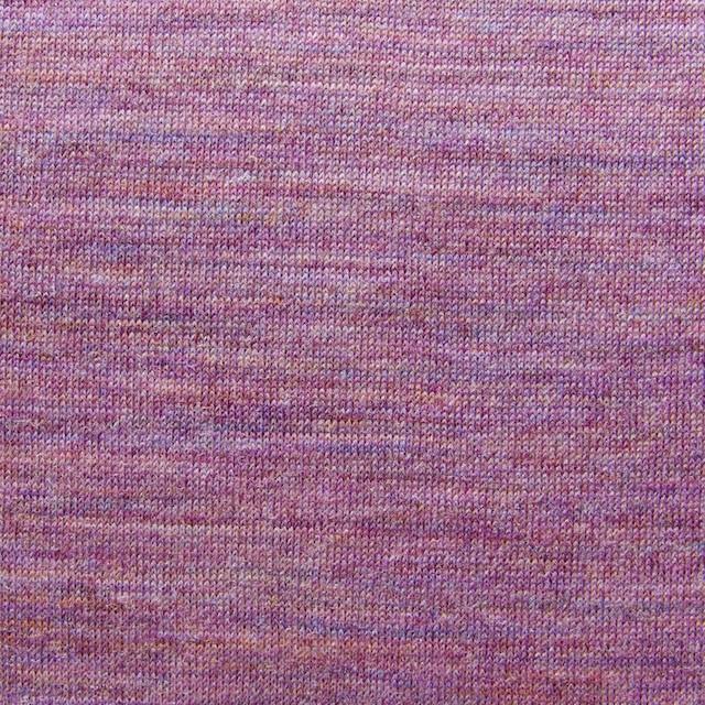 ウール&キュプラ×無地(ピンクパープルミックス)×天竺ニット_全2色 イメージ1