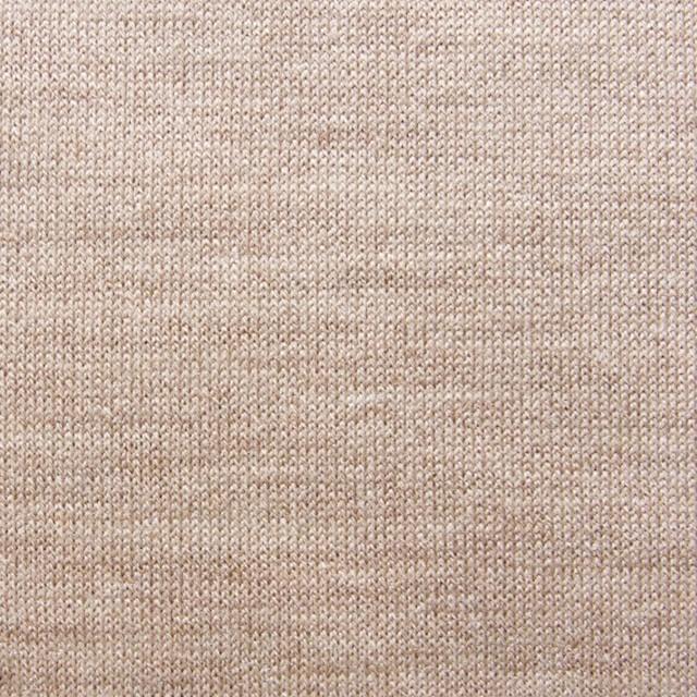 ウール&キュプラ×無地(オークル)×天竺ニット_全3色 イメージ1