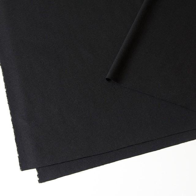 ウール×無地(ブラック)×ジョーゼット_全2色 イメージ2