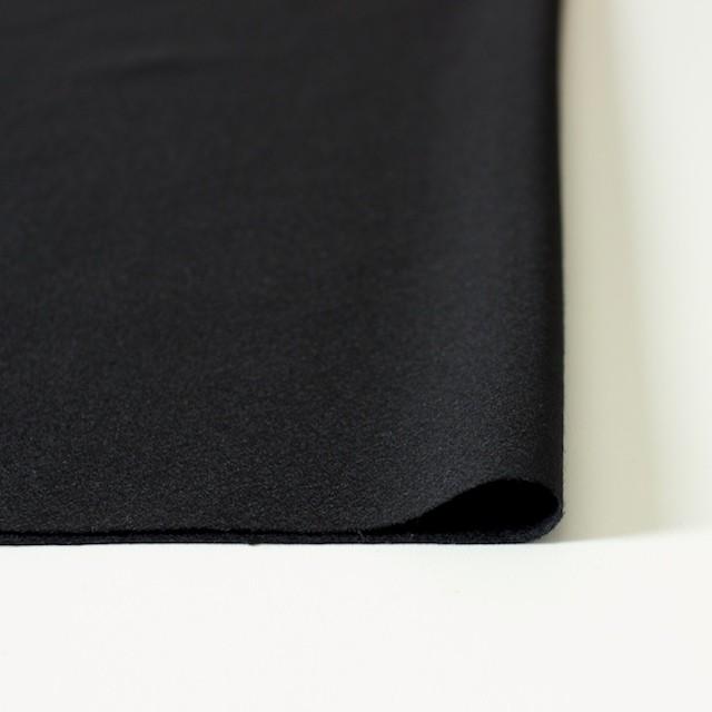 ウール×無地(ブラック)×ジョーゼット_全2色 イメージ3