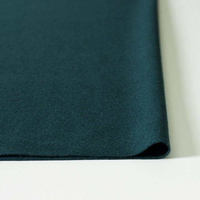 ウール×無地(ダークグリーン)×圧縮天竺ニット_全2色 イメージ3