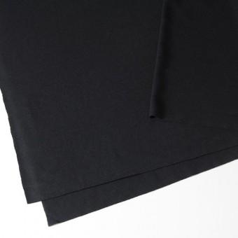 ウール×無地(ブラック)×圧縮天竺ニット_全2色 サムネイル2