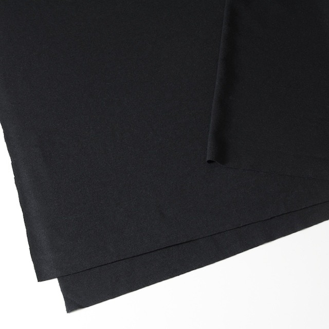 ウール×無地(ブラック)×圧縮天竺ニット_全2色 イメージ2