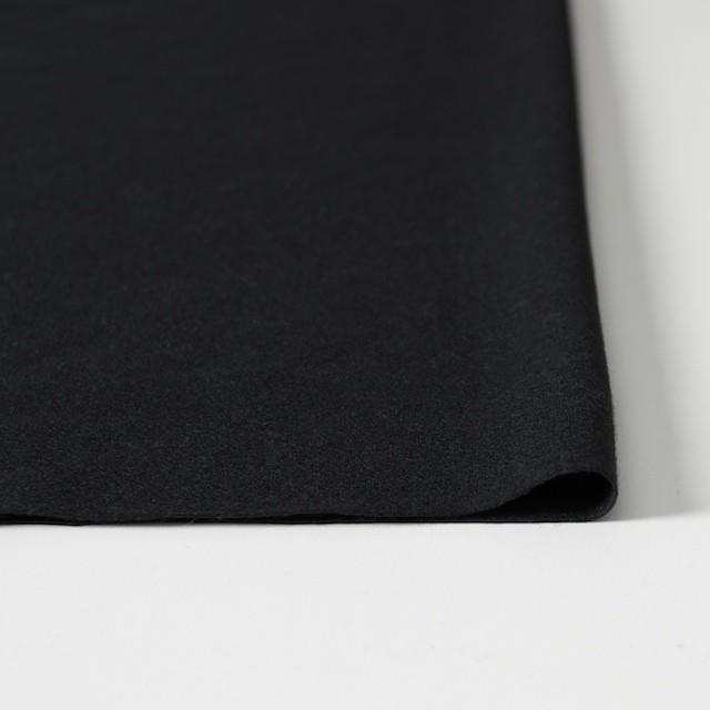 ウール×無地(ブラック)×圧縮天竺ニット_全2色 イメージ3