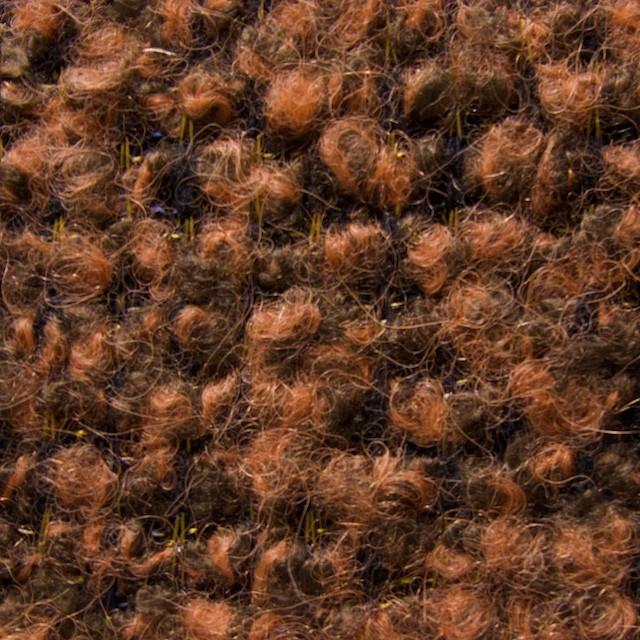 ウール&アセテート×ミックス(オレンジ&ブラック)×アストラカンニット イメージ1