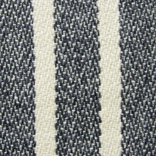 ウール&ポリエステル×ストライプ(キナリ×グレー)×かわり織 イメージ1
