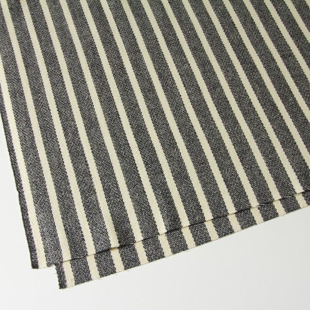 ウール&ポリエステル×ストライプ(キナリ×グレー)×かわり織 イメージ2