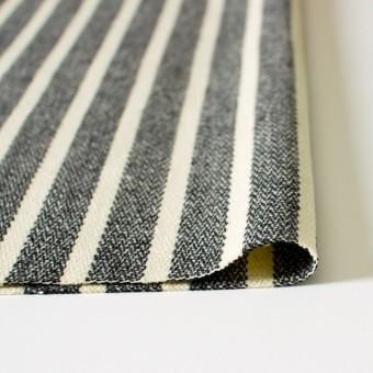 ウール&ポリエステル×ストライプ(キナリ×グレー)×かわり織 サムネイル3