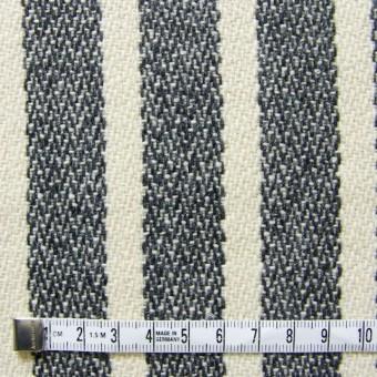 ウール&ポリエステル×ストライプ(キナリ×グレー)×かわり織 サムネイル4