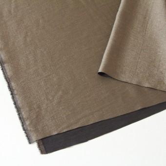 ウール&レーヨン&ナイロン×無地(ブロンズ&ブラウン)×かさね織 サムネイル2