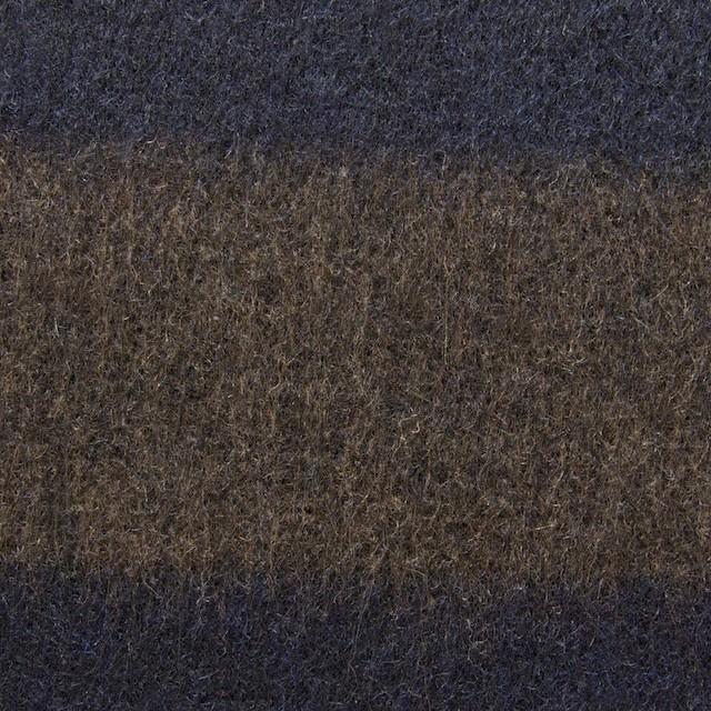 ウール×ボーダー(ブラウン&ネイビー)×ビーバー イメージ1