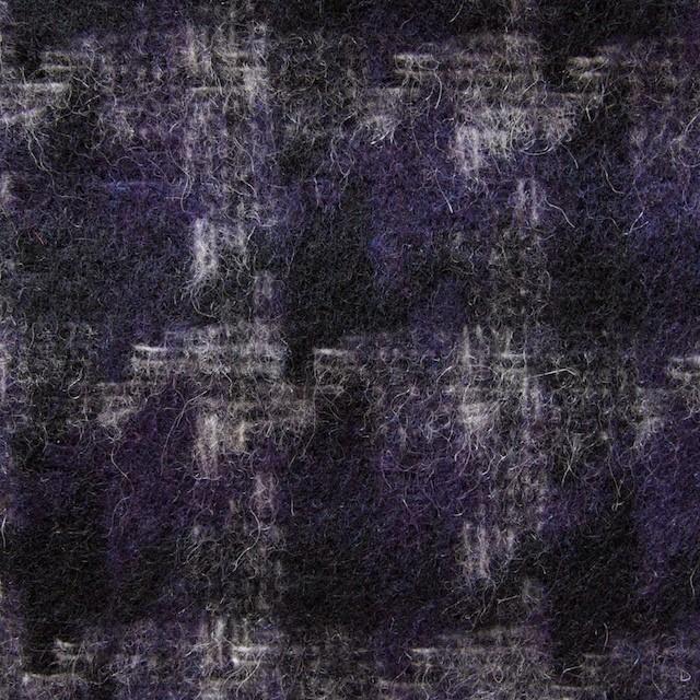 ウール&ポリエステル×ミックス(パープル&ネイビー)×千鳥格子 イメージ1