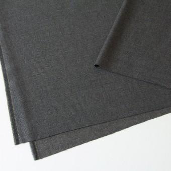 ウール×無地(チャコールグレー)×かわり織 サムネイル2