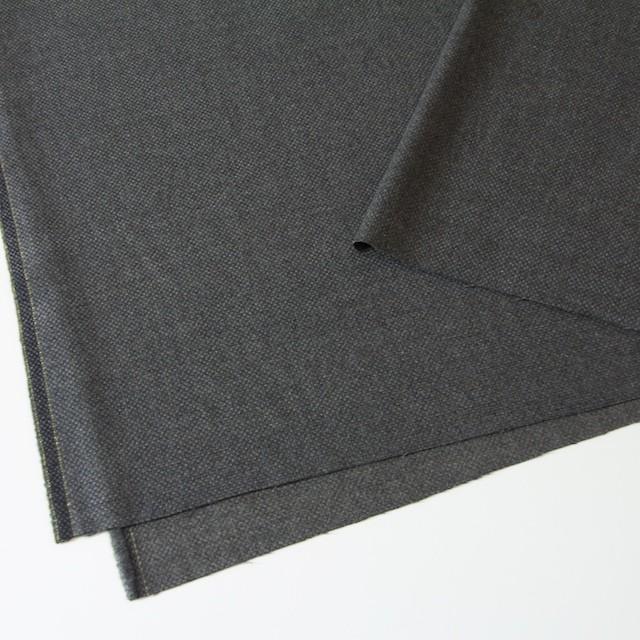 ウール×無地(チャコールグレー)×かわり織 イメージ2