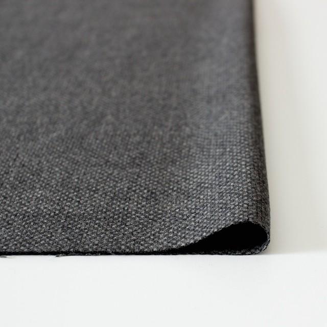 ウール×無地(チャコールグレー)×かわり織 イメージ3