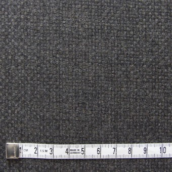 ウール×無地(チャコールグレー)×かわり織 サムネイル4