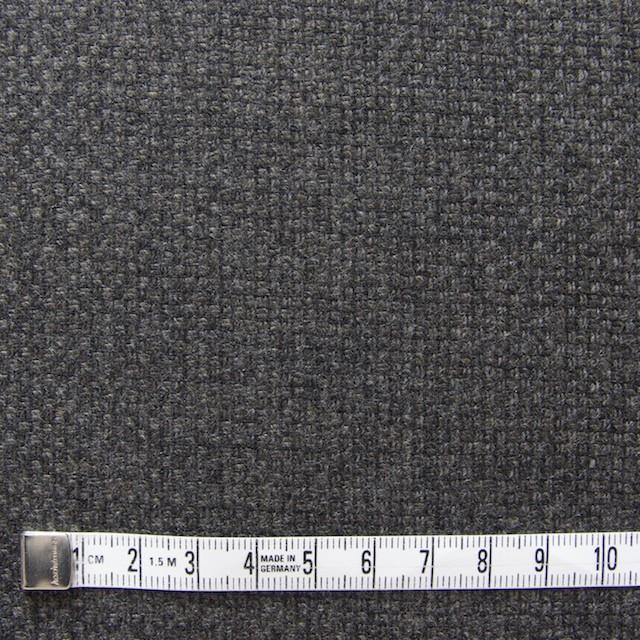 ウール×無地(チャコールグレー)×かわり織 イメージ4