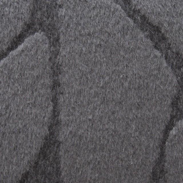 ウール&アンゴラ×ストーン(チャコールグレー)×シャギージャガード イメージ1