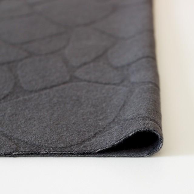 ウール&アンゴラ×ストーン(チャコールグレー)×シャギージャガード イメージ3