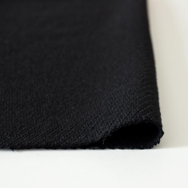 ウール×無地(ブラック)×厚カルゼ イメージ3