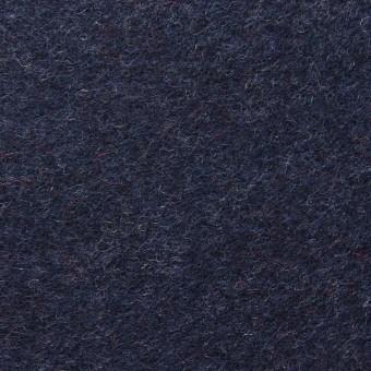 ウール×無地(ネイビー)×メルトン サムネイル1