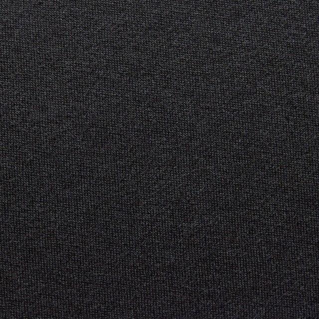 ウール&ポリエステル×無地(ブラック)×天竺ニット イメージ1