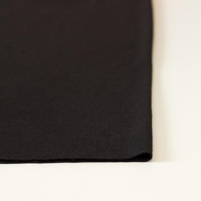 ウール&ポリエステル×無地(ブラック)×天竺ニット イメージ3