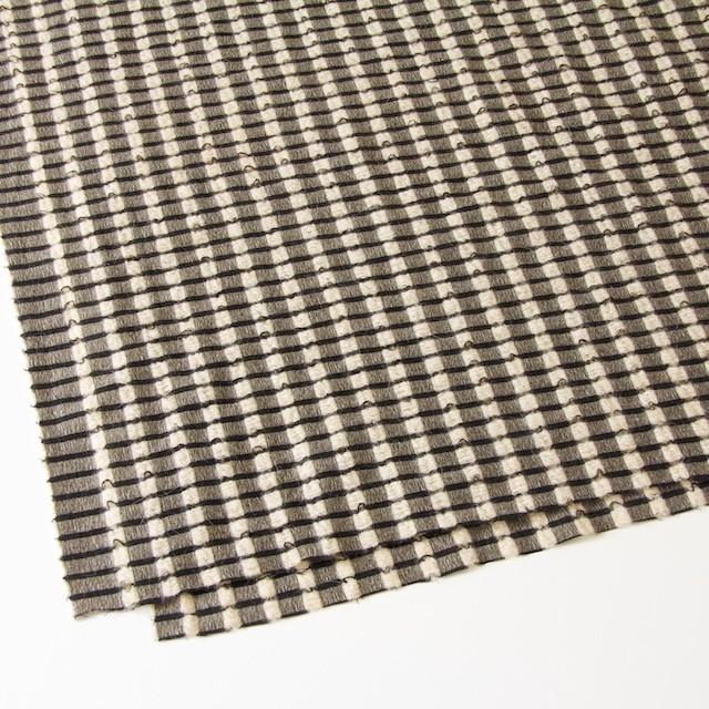 ウール&モヘア×チェック(ブラック&ベージュ)×かわり織 イメージ2