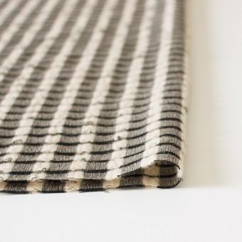 ウール&モヘア×チェック(ブラック&ベージュ)×かわり織 サムネイル3