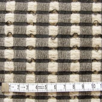 ウール&モヘア×チェック(ブラック&ベージュ)×かわり織 サムネイル4