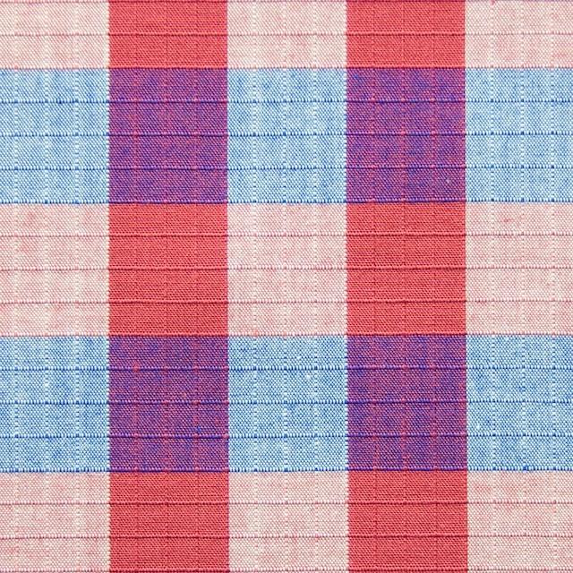 コットン×チェック(レッド&ブルー)×リップストップ_全2色 イメージ1