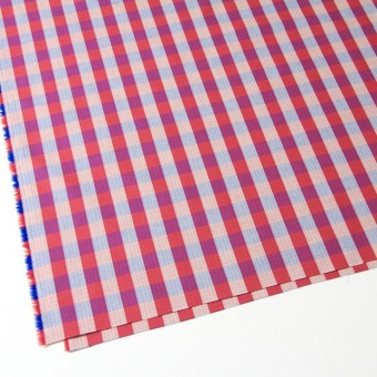 コットン×チェック(レッド&ブルー)×リップストップ_全2色 サムネイル2