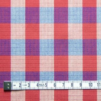 コットン×チェック(レッド&ブルー)×リップストップ_全2色 サムネイル4