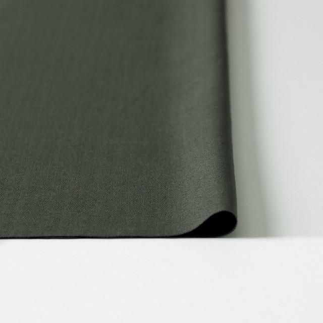 コットン×無地(カーキグリーン)×ヘリンボーン_全5色 イメージ3