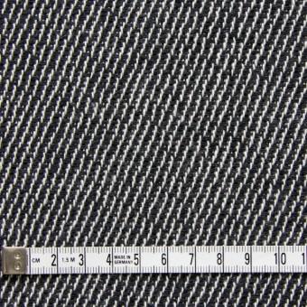コットン&ポリエステル×斜め縞(ブラック&ブラック)×かわり織_全2色 サムネイル4