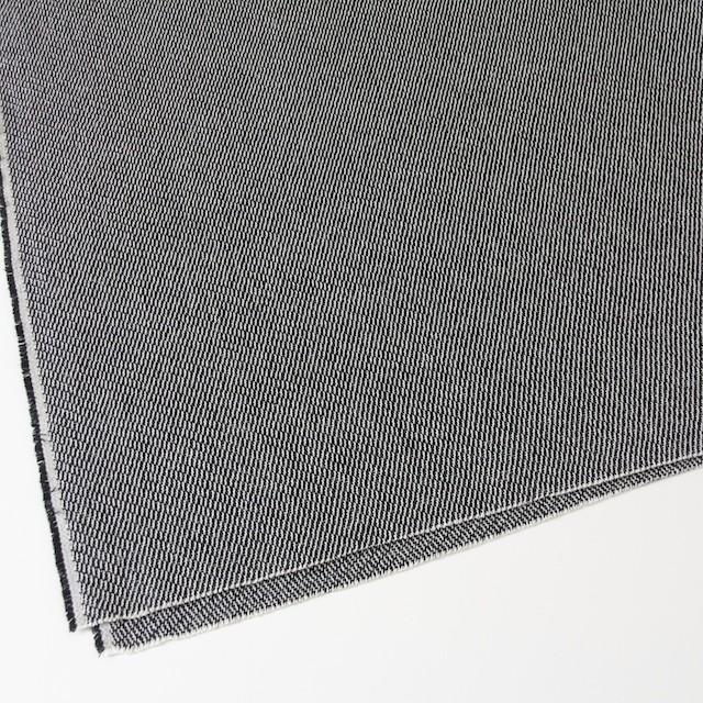 コットン&ポリエステル×斜め縞(ブラック&ブラック)×かわり織_全2色 イメージ2