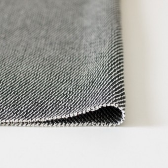 コットン&ポリエステル×斜め縞(ブラック&ブラック)×かわり織_全2色 サムネイル3